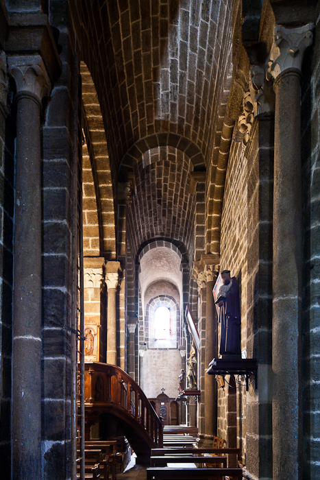 North side aisle, Église Saint Martin, Polignac (Haute-Loire)  Photo by PJ McKey