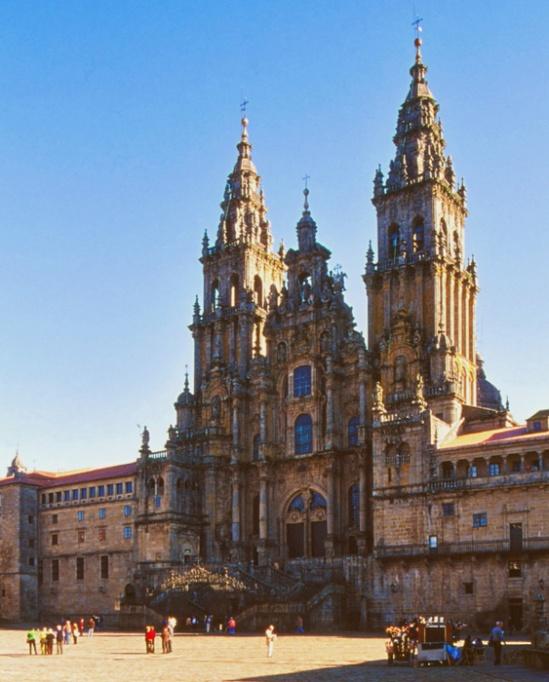 Western facade, Catedral de Santiago de Compostela, Santiago de Compostela (Galicia)  Photo by Jong-Soung Kimm