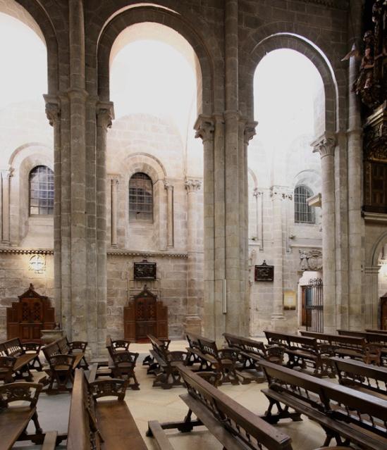 Nave elevation, Catedral de Santiago de Compostela, Santiago de Compostela (Galicia)  Photo by Jong-Soung Kimm