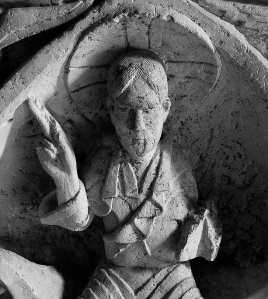 Altar detail, Église Notre Dame d'Avenas, Avenas (Rhône) Photo by Dennis Aubrey