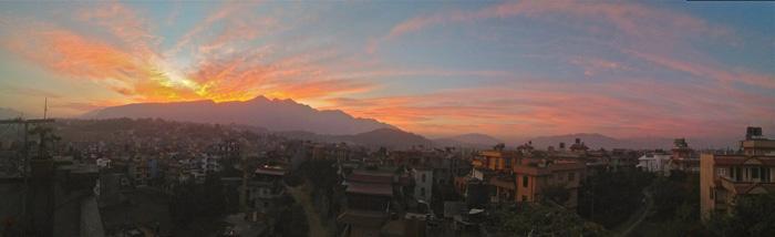 Nepal sunset, photo by Scott Hanson