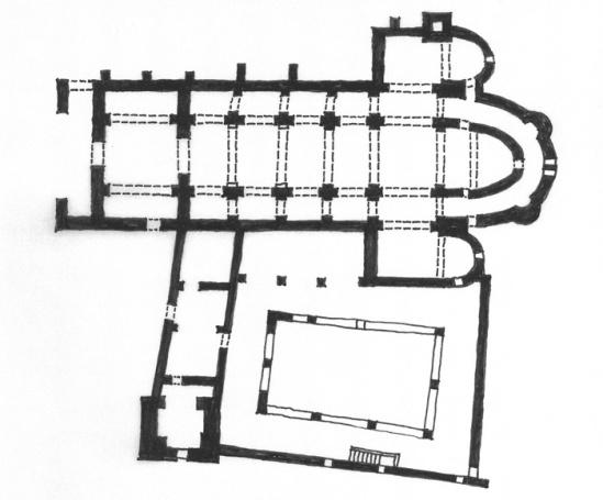 Sant Pere de Rodes, El Port de la Selva (Girona) Sketch plan by Jong-Soung Kimm