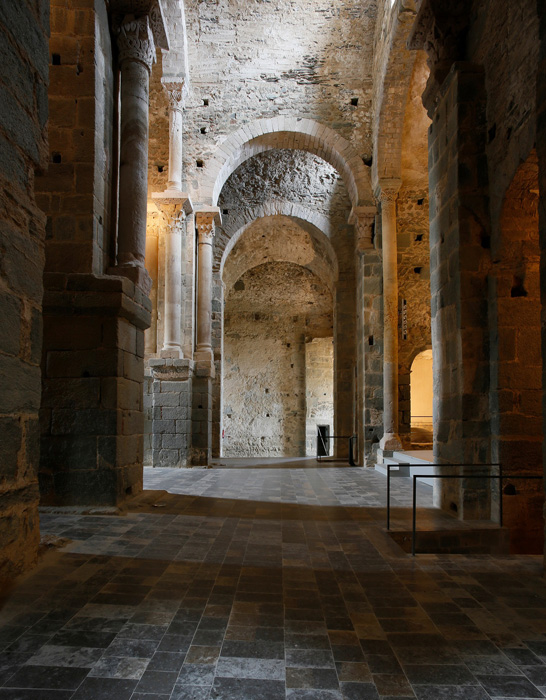 Transept arches, Sant Pere de Rodes, El Port de la Selva (Girona) Photo by Jong-Soung Kimm