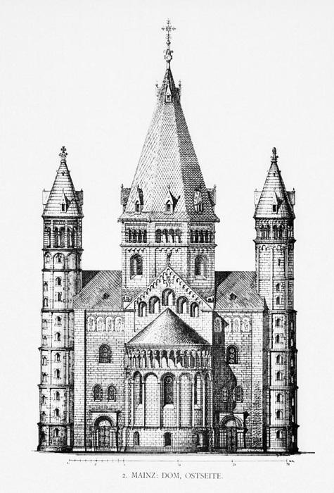 East elevation, Mainzer Dom Sankt Martin, Mainz (Rhineland–Palatinate)