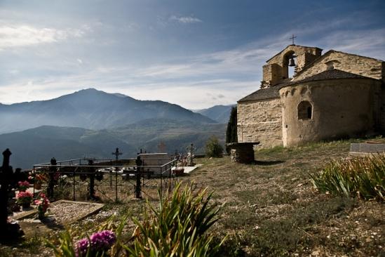 Église Saint Julien et Sainte Basilisse, Jujols (Pyrénées-Orientales)  Photo by PJ McKey