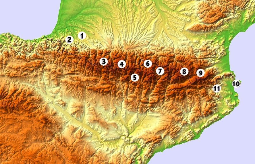 The Pyrénées section of the trip