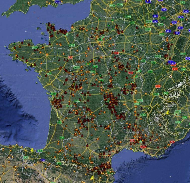 Google Earth database of churches